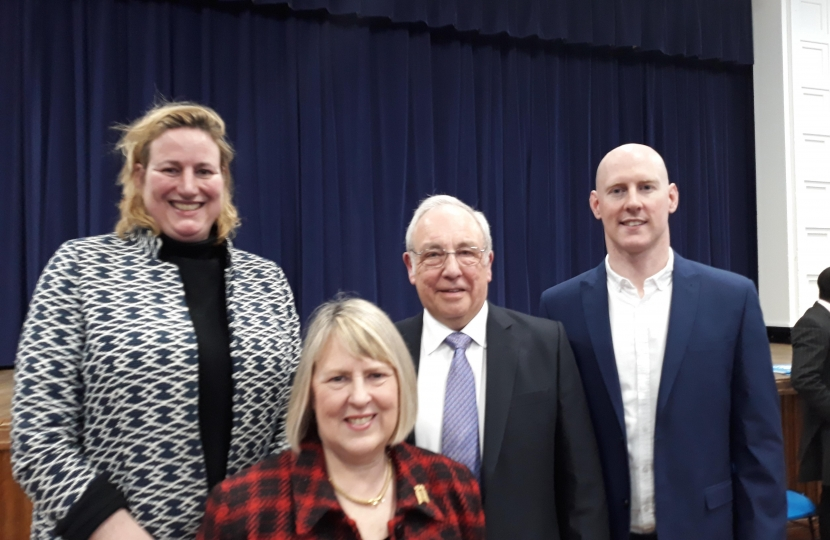 John is pictured with Conservative activists and with Eddisbury MP Antionette Sandbach, Congleton MP Fiona Bruce and Crewe and Nantwich Parliamentary candidate, Dr Kieran Mullan.
